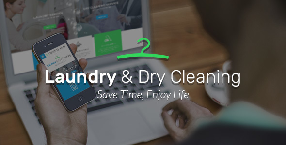 دانلود قالب فارسی شده html Laundry, Dry Cleaning services HTML website template